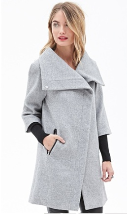 Heathered Double-Sleeve Cocoon Coat $59.80