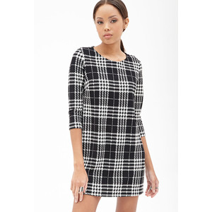 Forever 21 Houndstooth Plaid Shift Dress $19.90