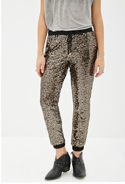 I'm going to go ahead and assert that these joggers are too cute to actually be jogged in. Forever 21 Sequin Jogger $32.90