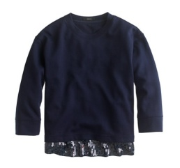 Jcrew Sequin Sweatshirt $79.50