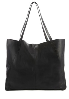 A sleek leather tote the size of a small child, because the bigger the bag the more important the person, amirite?
