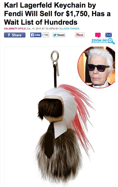 Karl Lagerfeld keychain